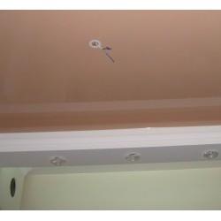 Отверстие для люстры на натяжном потолке - термокольцо