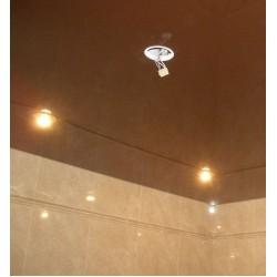 Отверстие для светильника на натяжном потолке - платформа и термокольцо