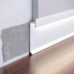 Плинтус скрытого монтажа для LED подсветки, алюминиевый, скрытый плинтус Р-2-60C RAL9003