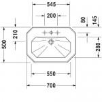 1930 Раковина 700х500 мм Duravit 0438700030
