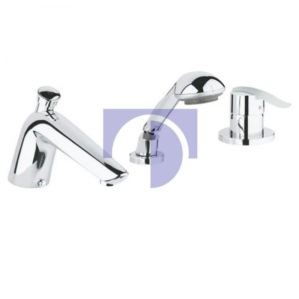 Ectos Змішувач для ванни на 3 отвори білий / хром Grohe 19040MF0