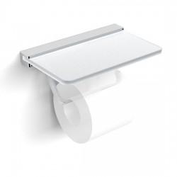 Be Free Держатель туалетной бумаги со стеклянной полочкой Langberger 2132041B