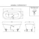 Ванна чугунная Devon&Devon Admiral Copper Effect 2MRADMIRALVARDD