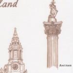 3 Ткани для рулонных штор Принты: Англия, Франция