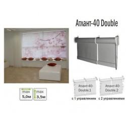 Рулонна штора для великих вікон Атлант-40 Double