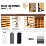 Бланж Бамбукові жалюзі Premium Bamboo Painted brush 25 мм