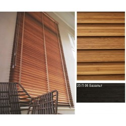 Базальт Бамбуковые жалюзи Premium Bamboo 25 мм