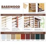 Дуб Деревянные жалюзи Basswood 25 мм