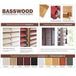 Дуб Деревянные жалюзи Basswood 50 мм