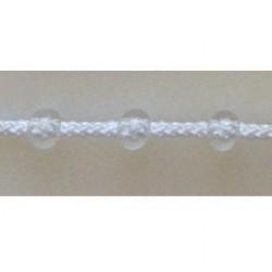 Ланцюжок для штори Плекс білий