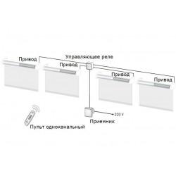 Комплект автоматики для штор 220V для четырех изделий