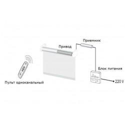 Комплект автоматики для штор 24V для одного виробу