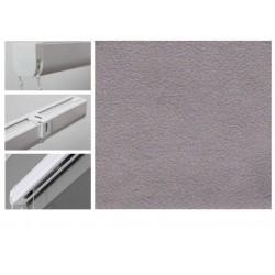 Римські штори з тканиною Леонардо сірий