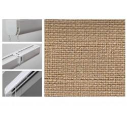 Римські штори з тканиною Шанті карамель