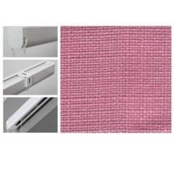 Римські штори з тканиною Шанті рожевий корал