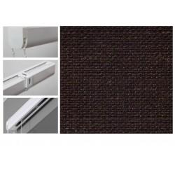 Римські штори з тканиною Шанті шоколад