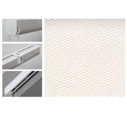 Римські штори з тканиною Тіффані білий