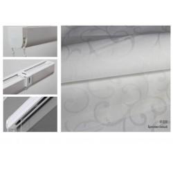 Римская штора, ткань Бриония белый