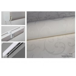 Римская штора, ткань Бриония кремовый