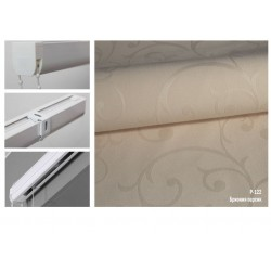 Римская штора, ткань Бриония персик