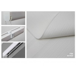 Римская штора, ткань Холст белый