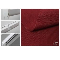 Римская штора, ткань Холст, бордо