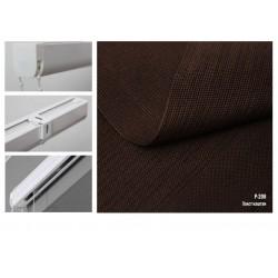 Римська штора, тканина Полотно каштан