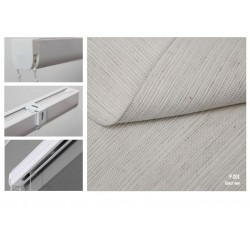 Римская штора, ткань Холст лен