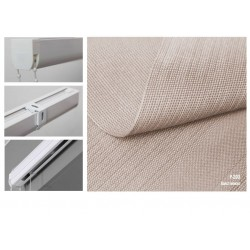 Римська штора, тканина Полотно мокко