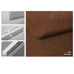 Римська штора, тканина Полотно шоколад