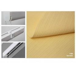 Римская штора, ткань Холст ваниль