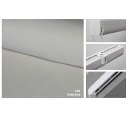 Римская штора, ткань Папирус белый