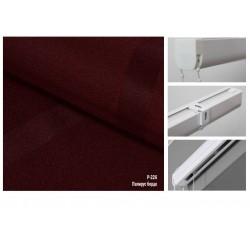 Римська штора, тканина Папірус бордо