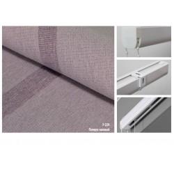 Римская штора, ткань Папирус лиловый