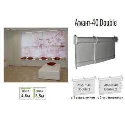 Рулонная штора для больших окон Атлант-40 Double