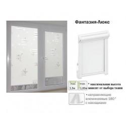 Рулонная штора Фантазия-люкс белый