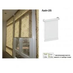Рулонная штора открытого типа Лайт-25 белый