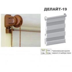 """Штора """"День-Ночь"""" открытого типа Делайт-19 золотой дуб"""