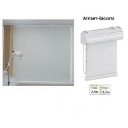 Рулонная штора в коробе для больших окон Атлант-кассета