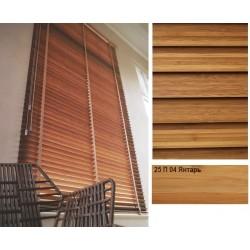 Янтарь Бамбуковые жалюзи Premium Bamboo 25 мм