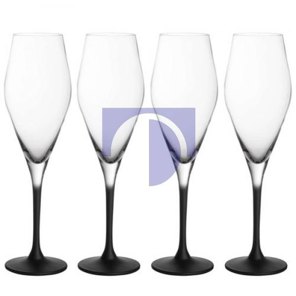 Набор из 4 бокалов для шампанского 0,26 л Manufacture Rock Villeroy & Boch