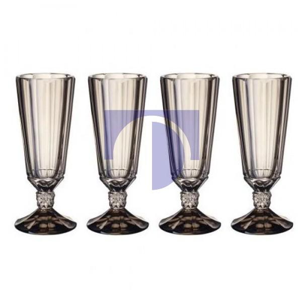 Набор из 4 бокалов для шампанского 0,145 л Opera Smoke Villeroy & Boch
