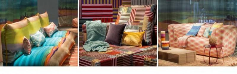 Новые красочные дизайны в коллекциях 2019 от Missoni Home